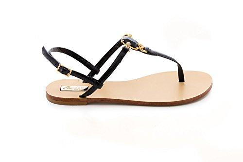 Raggini Antonio Black Sandal Toe Open Jewelled FvYqvd