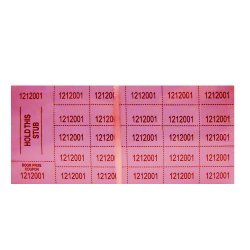 Auction Tickets - 500 Sheets - PINK by Auction Tickets
