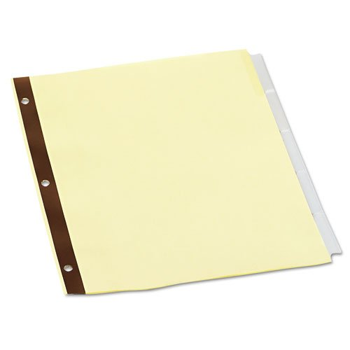 Universal 20861 Extended Insert Indexes, Clear 5-Tab, Letter, Buff, 24 Sets/Box UNIVERSAL OFFICE PRODUCTS UNV20861