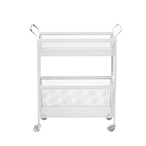 (Wheeled Iron Flower Stand, Wrought Iron Rack with Wheel Bedroom Bedside Living Room Storage Cart Floor Type Multi-Layer Storage Rack Beauty)