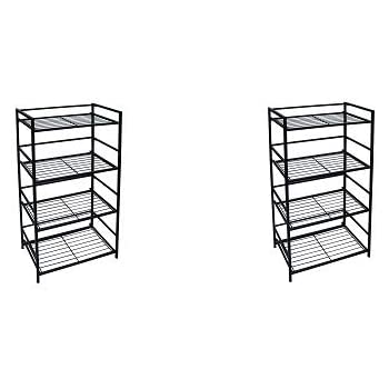 Amazon Com Flipshelf Folding Metal Bookcase Small Space Solution No Assembly Home Kitchen
