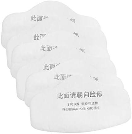 Exceart 페이스 의류 필터 20피스 먼지 방지 필터 입 커버 필터 교체품 연기 공기 오염 화이트 / Exceart 페이스 의류 필터 20피스 먼지 방지 필터 입 커버 필터 교체품 연기 공기 오염 화이트