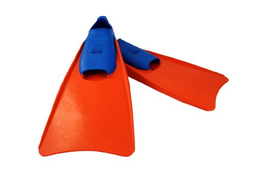 Swim Research Swim Training Floating Fins for Leg Strength and Aquatic Water Exercise - Swimming Pool Equipment Swimfin (5-7 Blue/Orange)