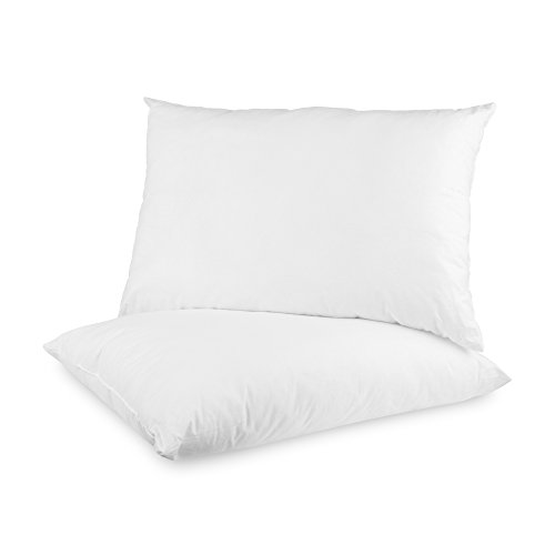 BioPEDIC 2-Pack Built-in Ultra-Fresh Anti-Odor Technology Bed Pillows, Standard, White