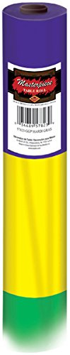 Beistle 57823-GGP Mardi Gras Table Roll, 40-Inch by 100-Feet ()