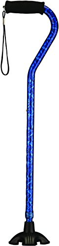 NOVA Medical Products Sugarcane with Offset Handle, Blue Rain, 2 Pound