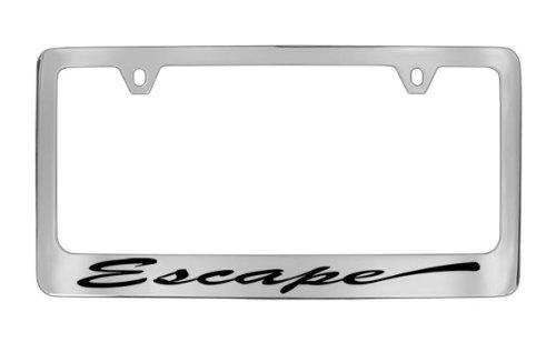 Ford Escape Script Chrome Plated Metal License Plate Frame Holder ()