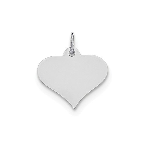 Gauge Engraveable Heart Disc Pendant Charm Necklace Engravable Shapely Love Fine Jewelry Gifts For Women For Her ()