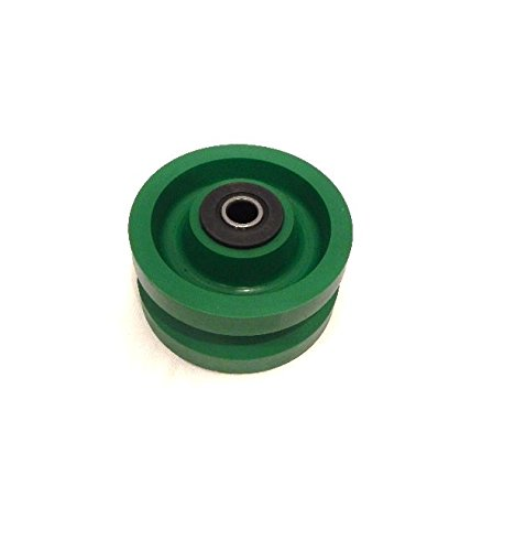 V-Groove Solid Polyurethane Wheel 4'' x 2'' with 1/2'' ID Needle Roller Bearing