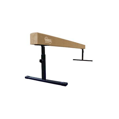 Tan 8ft Adjustable Balance Beam and Blue 6ft Folding Mat