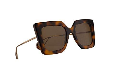 Gucci GG0435S Sunglasses Havana Gold w/Brown Lens 51mm 003 GG0435/S 0435/S GG ()