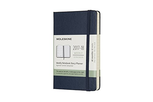 Moleskine 18 Month Weekly Planner, Sapphire Blue, Pocket, Hard Cover (3.5 x 5.5) PDF