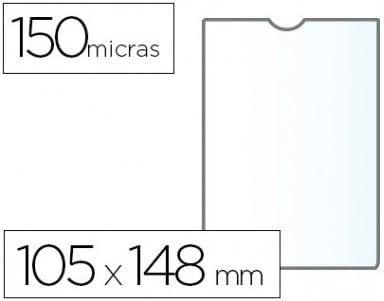 Q-CONNECT KF15578 - Funda Portadocumentos, DIN A6 150 Micras PVC ...