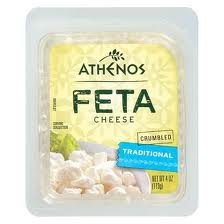 ATHENOS FETA CHEESE CRUMBLED TRADITIONAL 4 OZ PACK OF 2