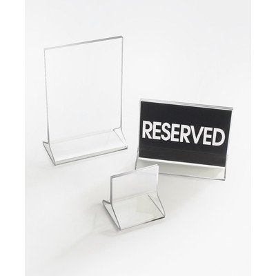 Cal-Mil 526 Classic Standard Tabletop Cardholder, 4'' Width x 0.25'' Depth x 6'' Height, Clear (Pack of 24) by Cal Mil (Image #1)