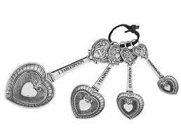 Ganz Msrng Spns-Hearts:4PCSET,ZI Measuring Spoons