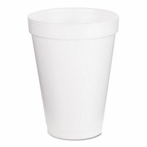Dart 10J12 Conex Hot/Cold Foam Drinking Cups, 10oz, Squat, White, 40/Bag, 25 Bags/Carton