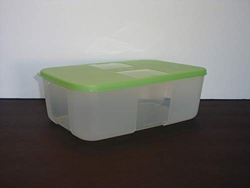 Tupperware Freezer Mates Medium Containers Set of 2 Lime Green Seals
