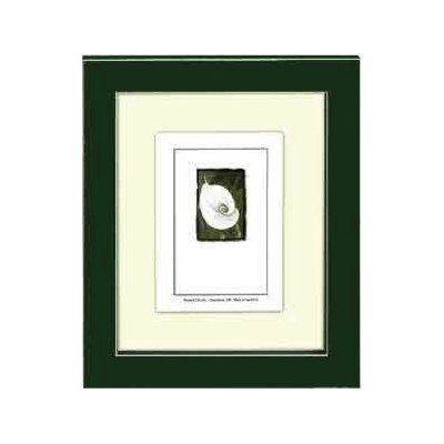 5x7 Green Picture Frame with Clean Cut Edge - Rectangle Picture Frame Charms