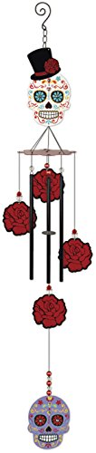 Sunset Vista Designs 14691 Day of The Dead Metal Wind Chime, White Sugar Skull Review