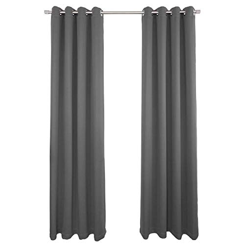 NIM Textile Grommet Curtains Thermal Insulated Blackout Drapes, 140