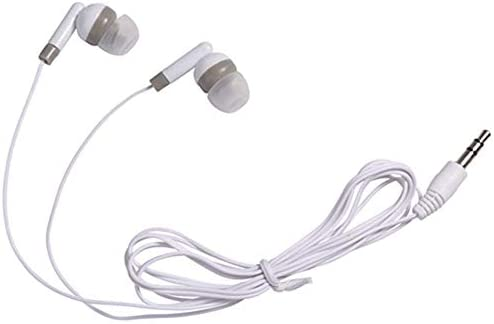 Wholesale Bulk Earbuds Headphones Individually Bagged 100 Pack for iPhone, Android, MP3 Player White