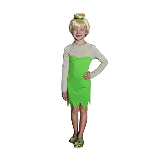 Girls Tinkerbell Costume, Green (S -
