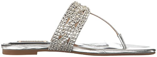 Women's Mischka Trent Dress Silver Sandal Badgley 4q5Y14