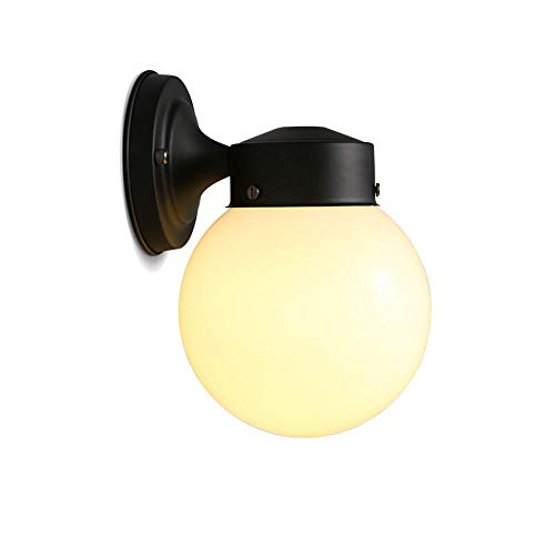 TheMonday Loft Retro American Glass Ball Led Wall Lamp Industrial Vintage Kitchen Wall Lights Fittings Corridor Sconce Fixture Wall Mounted Lanterns Home Bedroom Wall Lighting (Color : Style 1)