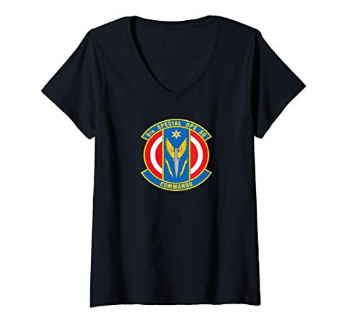 Womens 6th Special Operations Squadron V-Neck T-Shirt