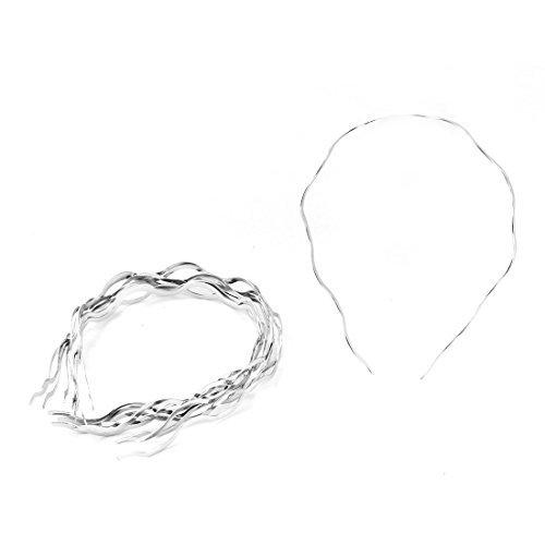 Forma eDealMax Mujeres Metal Grande de la onda Hairband Headwear del ornamento del ARO del Pelo 10pcs tono de Plata