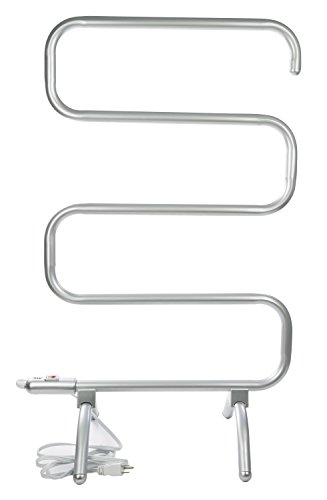 - Sharper Image Curved Towel Warmer, Silver