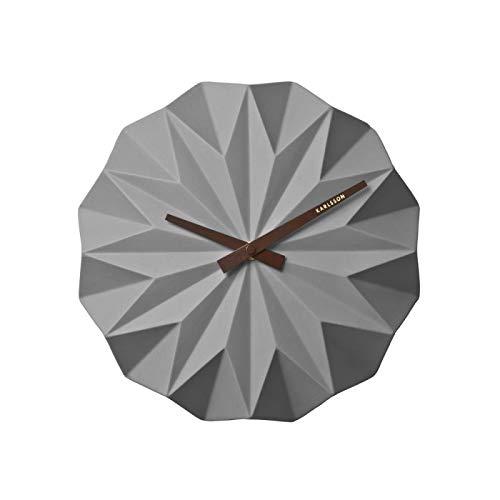 Karlsson Wall Clock, Ceramic, Gray, One Size