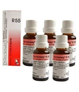 5 x Dr.Reckeweg-Germany R55- Injuries, Healing Drops. .''Shipping by FedEx'' by Dr.Reckeweg