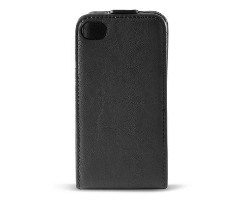 KSIX B0917FU90 Flip Up Case für Apple iPhone 4 schwarz