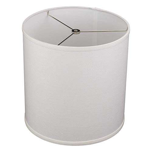 FenchelShades.com 12'' Top Diameter x 12'' Bottom Diameter 12'' Height Cylinder Drum Lampshade USA Made (Designer Off White) by FenchelShades.com