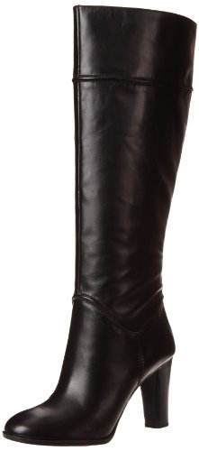 Enzo Angiolini Women's Sabyl Boot,Black Leather,6 M US