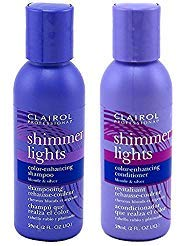 Clairol Shimmer Lights Shampoo Conditioner 2 Ounce (59ml) Travel Size Set