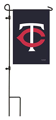Ashley Gifts Customizable Embroidered Garden Size MLB Flag, Minnesota Twins ()