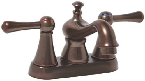 Premier Faucet 106874 Premier Sonoma Lead-Free Centerset Two-Handle Lavatory Faucet, Oil Rubbed Bronze WaterSense