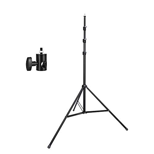 UTEBIT 12FT Light Stand with 1/4 Adapter Heavy Duty Softbox Stands High Adjustable 110cm-360cm Photo Stage Tripod Foldable 3.6M Frosted Material Lighting Stands Kit for Camera Video Photography Studio ()
