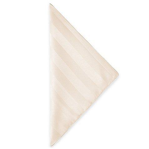 Ultimate Textile -5 Dozen- Satin-Stripe 17 x 17-Inch Cloth Napkins, Ivory Cream ()