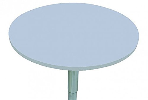 WOLTU BT02ws bar table swivel and height adjustable round bar table made of MDF White Round