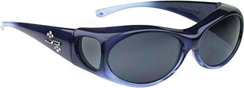 Fitovers Eyewear Aurora Sunglasses with Swarovski Elements on temples (Sapphire, PDX - Jonathan Paul Sunglasses Fitover