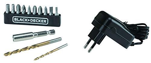 BLACK+DECKER Parafusadeira e Furadeira de 3/8 Pol. (10mm) a Bateria 12V Ion-Litio 1.5Ah 900 RPM com 13 Acessórios e…