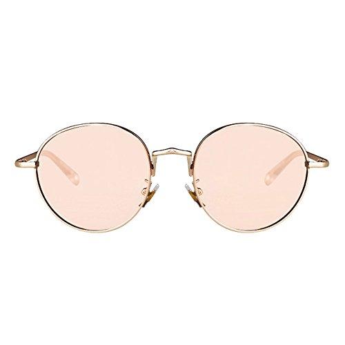 Protección de de Gafas Gafas DT Color Gafas Sra Vendimia UV de Sol Redondas Gafas de Sol 2 de Sol 2 la Compras de Pesca 7ExSXFqSn