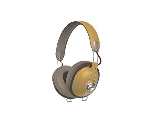 PANASONIC Wireless Retro Over-The-Ear Headphones with Bluetooth 24-Hour Playback Color Dijon (RP-HTX80B-C) (Headphones Lightweight Super Panasonic)