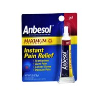 (Anbesol Anbesol Oral Anesthetic Gel Maximum Strength, 0.33 oz)