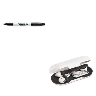 KITPRBEBC38MCKSAN30001 - Value Kit - Paris Business Products Dotz Hardshell Earbud Case (PRBEBC38MCK) and Sharpie Permanent Marker (SAN30001)