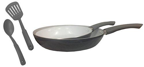 IMUSA EE. UU. imu-25066set–Juego de sartenes cerámicas (Set, 20/26cm, Gris